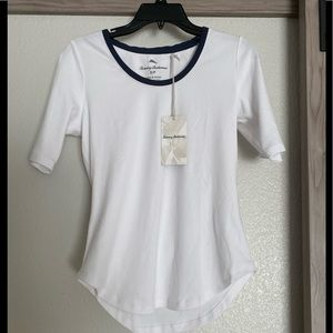 NWT Tommy Bahama white top navy trim